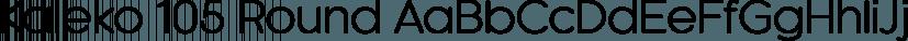 Kaleko 105 Round font family by Talbot Type