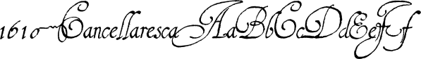 1610 Cancellaresca font family by GLC Foundry