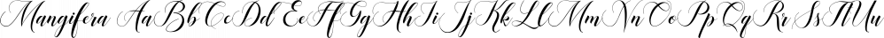 Mangifera font family by JORSECREATIVE