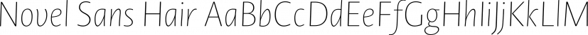 Novel Sans Hair font family by Atlas Font Foundry
