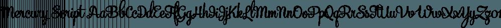 Mercury Script font family by Fenotype