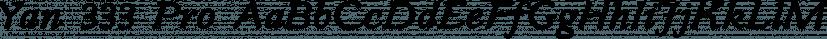 Yan 333 Pro font family by JY&A Fonts