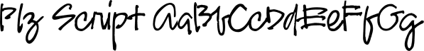 Plz Script font family by Outside the Line