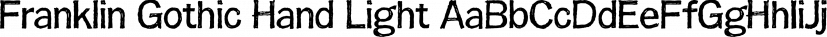 Franklin Gothic Hand Light font family by Wiescher-Design