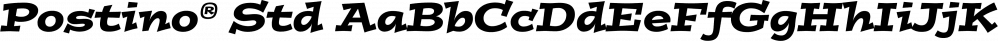 Postino® Std font family by Adobe