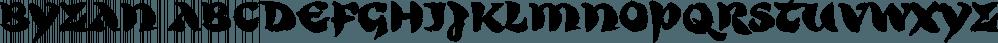 Byzan font family by Finaltype