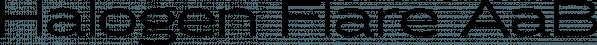 Halogen Flare font family by Positype