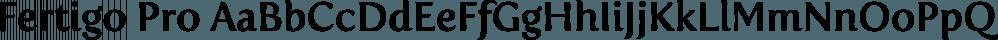 Fertigo Pro font family by exljbris Font Foundry