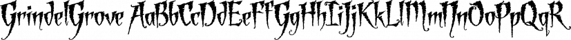GrindelGrove font family by Laura Worthington