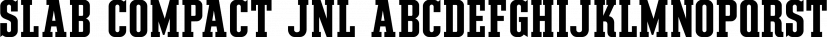 Slab Compact JNL font family by Jeff Levine Fonts