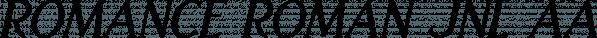 Romance Roman JNL font family by Jeff Levine Fonts