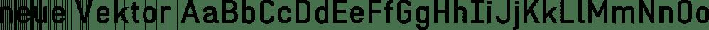 neue Vektor font family by Neue