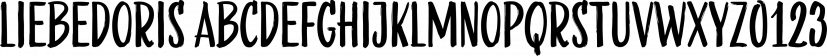 LiebeDoris font family by LiebeFonts