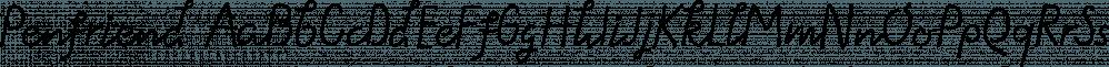 Penfriend font family by Tour de Force Font Foundry