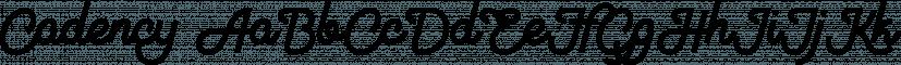 Cadency font family by NREY