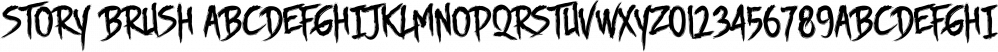 Story Brush font family by Majestype