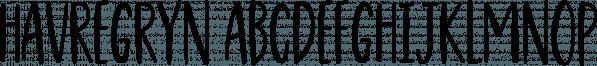 Havregryn font family by Pizzadude.dk