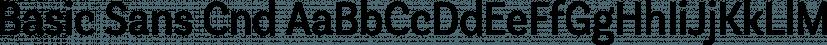 Basic Sans Cnd font family by Latinotype