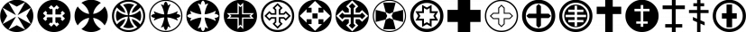 CrossOrnaments font family by Gerald Gallo Fonts