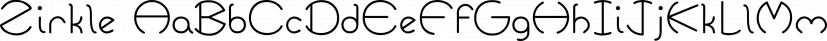 Zirkle font family by Ingrimayne Type