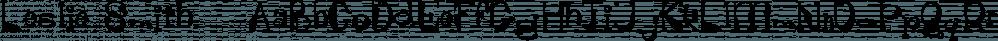 Leslie Smith™ font family by MINDCANDY