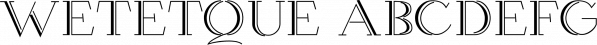 Wetetque font family by Ingrimayne Type