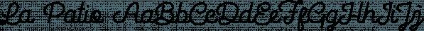 La Patio font family by Desainer Males