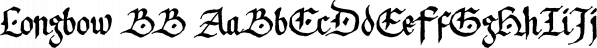 Longbow BB font family by Blambot
