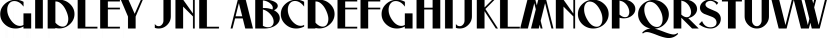 Gidley JNL font family by Jeff Levine Fonts