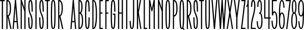 Transistor font family by RetroSupply Co.