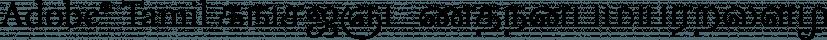 Adobe® Tamil font family by Adobe