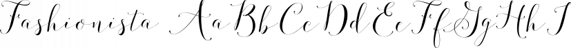 Fashionista font family by Emily Spadoni