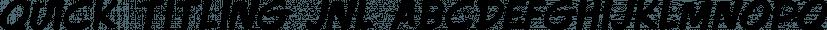 Quick Titling JNL font family by Jeff Levine Fonts