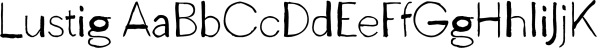 Lustig font family by Juraj Chrastina