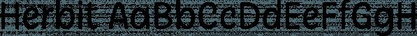 Herbit font family by Lafontype