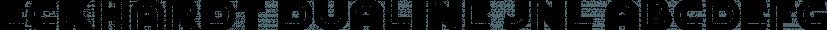 Eckhardt Dualine JNL font family by Jeff Levine Fonts