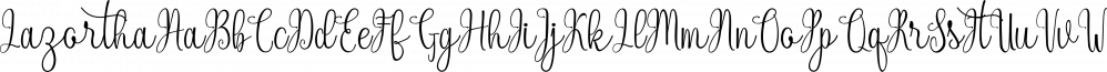 Lazortha font family by RtCreative