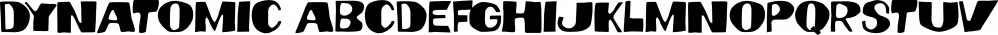 Dynatomic font family by PintassilgoPrints