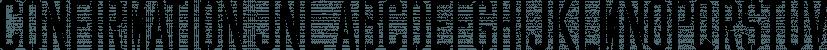 Confirmation JNL font family by Jeff Levine Fonts