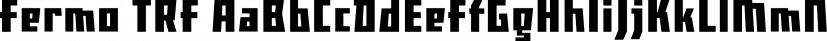 Fermo TRF font family by TipografiaRamis