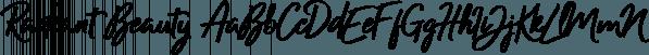 Radiant Beauty font family by Ian Barnard