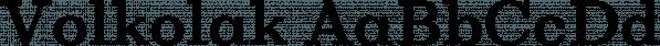 Volkolak font family by Wraith Types