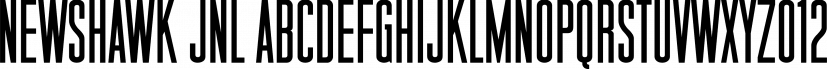 Newshawk JNL font family by Jeff Levine Fonts