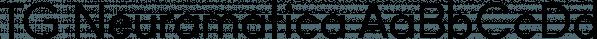 TG Neuramatica font family by Tegami Type