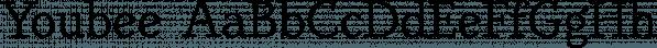 Youbee font family by Ingrimayne Type