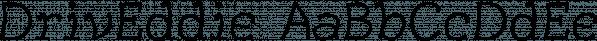 DrivEddie font family by Ingrimayne Type