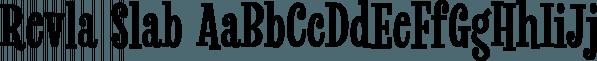 Revla Slab font family by Schizotype Fonts