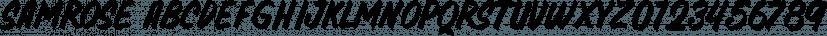Samrose font family by Letterhend Studio