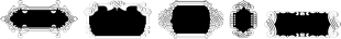 Ornate Blackboards font family mini