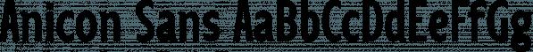 Anicon Sans font family by NREY